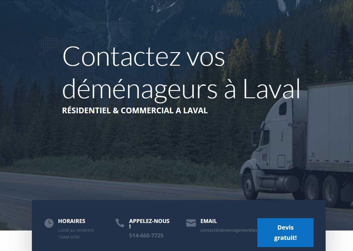 Déménageurs a Laval