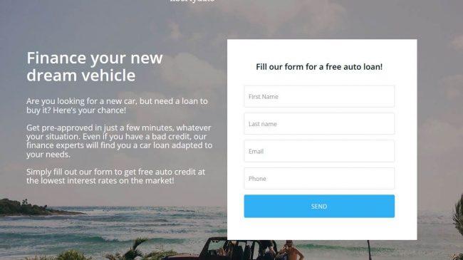 Auto credit financial